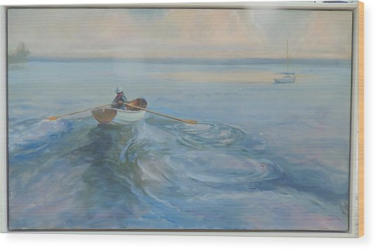 Yacht Ahoy Wood Print by Ron Wilson