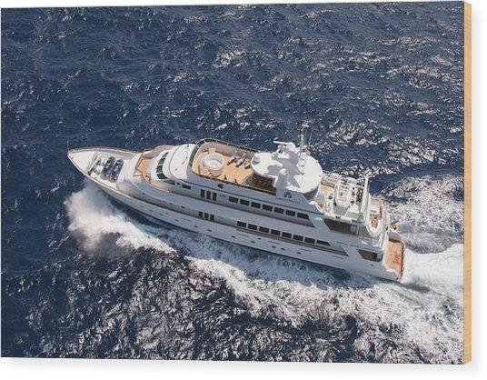 Yacht Not Mine Wood Print by John Rowe