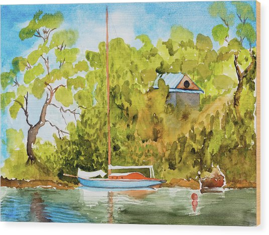 Yacht Weene' In Barnes Bay  Wood Print