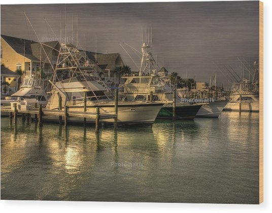 Yachts In Hdr Wood Print