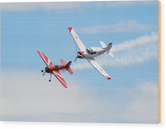 Yak 55 And Yak 18 Wood Print by Larry Keahey