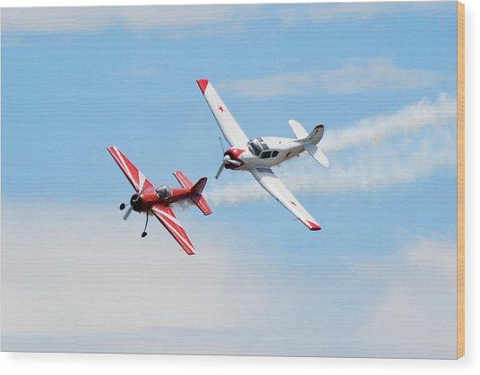 Yak 55 And Yak 18 Wood Print