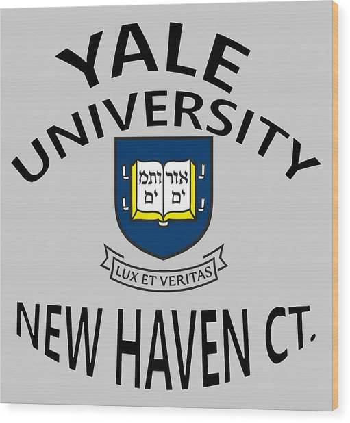 Yale University New Haven Connecticut  Wood Print