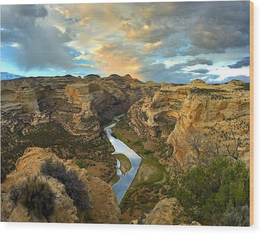 Yampa River Dinosaur National Monument Wood Print