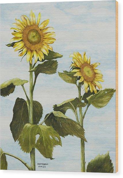 Yana's Sunflowers Wood Print