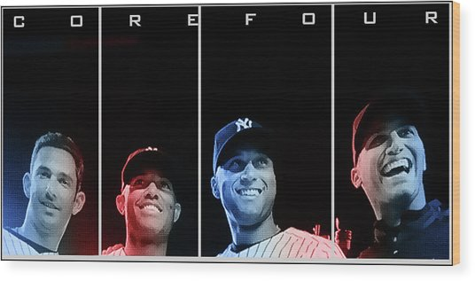 Yankee Core Four By Gbs Wood Print