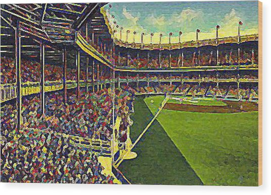 Yankee Stadium From Right Field 1937 Wood Print