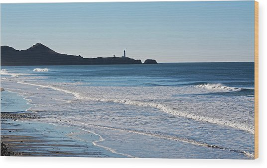 Yaquina Lighthouse And The Pacific Wood Print