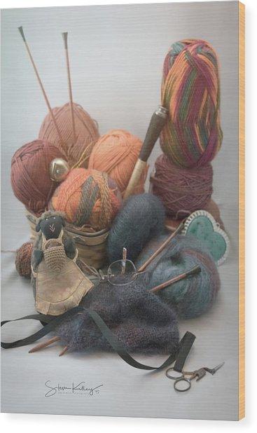 Yarn Wood Print