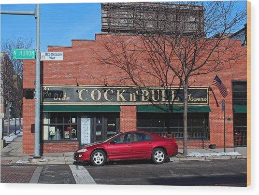 Ye Olde Cock N Bull Wood Print