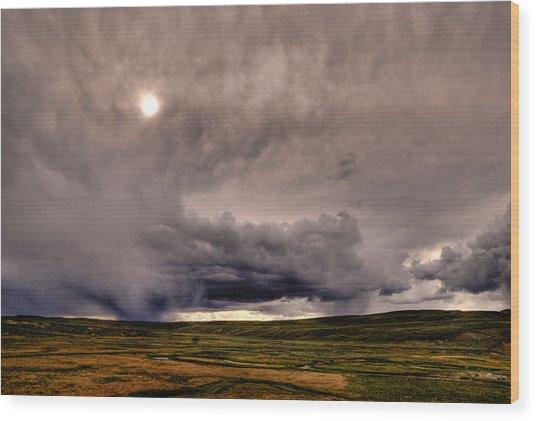 Yellostone Sky Wood Print by Patrick  Flynn