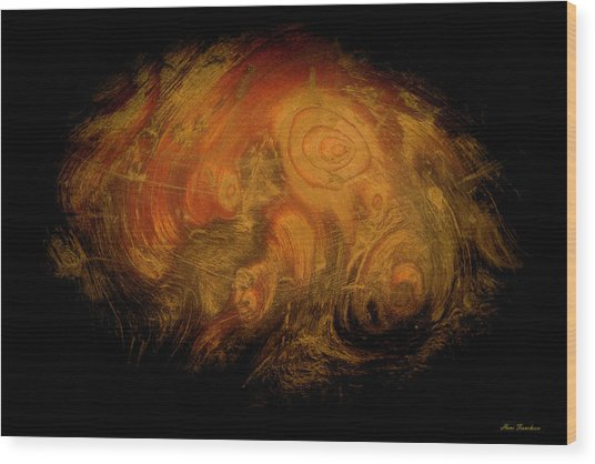 Yellow 3567 Signed Wood Print