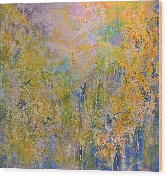 Yellow Abstract Wood Print