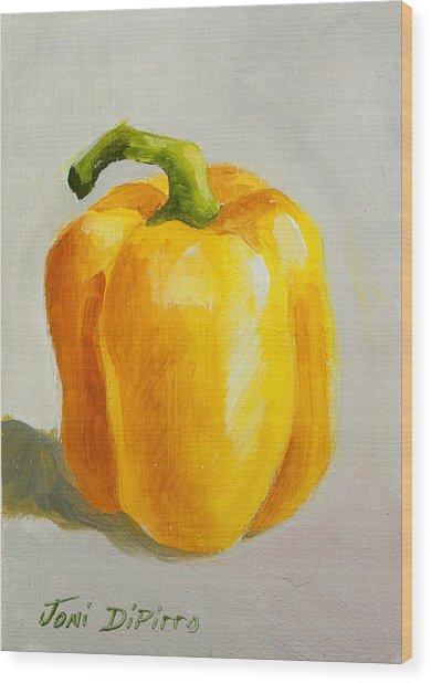 Yellow Bell Pepper Wood Print by Joni Dipirro