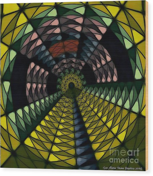Yellow Brick Road Wood Print