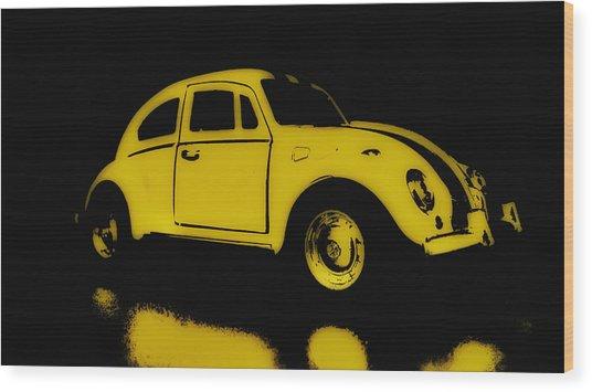 Yellow Bug Wood Print