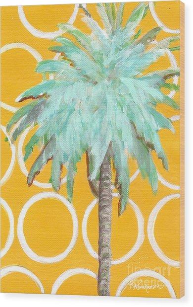 Yellow Delilah Palm Wood Print