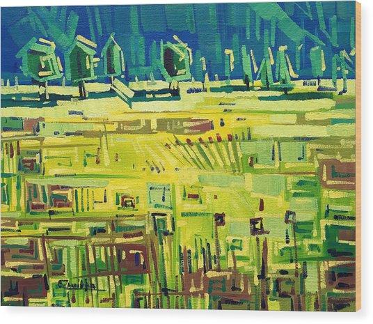 Yellow Field Wood Print