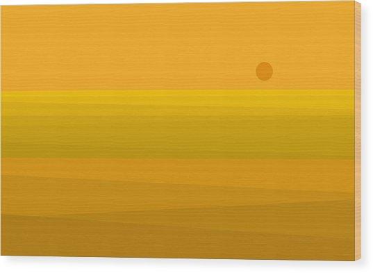 Yellow Fields Of Corn Wood Print