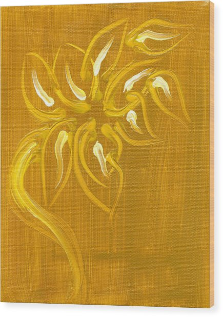 Yellow Flower 1 Wood Print by Melissa Moore