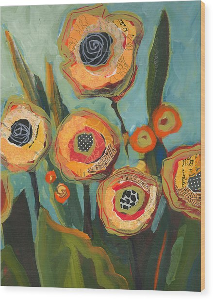 Yellow Flowers No2 Wood Print