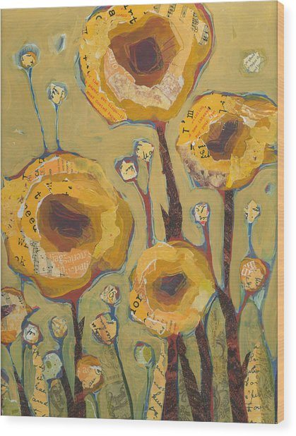 Yellow Flowers No3 Wood Print