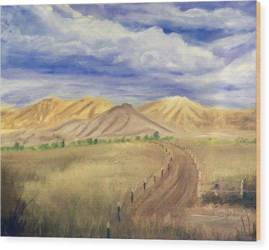 Yellow Hills Of Jensen Wood Print