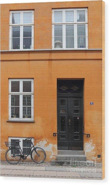The Orange House Copenhagen Denmark Wood Print