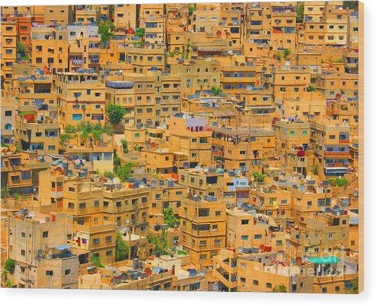 Yellow Maze Wood Print