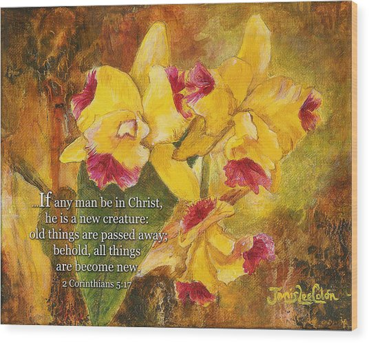 Yellow Orchids Acrylic 2 Cor 5 Wood Print