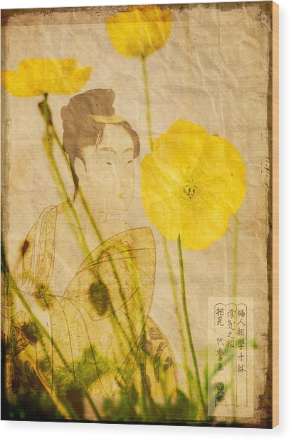 Yellow Poppies Wood Print by Wesley Phillips