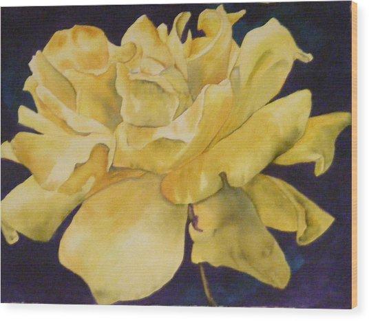 Yellow Rose 101 Wood Print