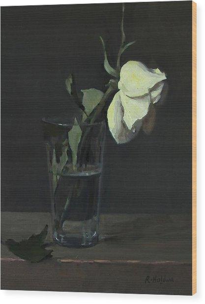 Yellow Rose No. 3 Wood Print