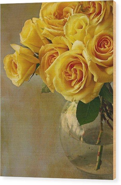 Yellow Rose Of... Wood Print