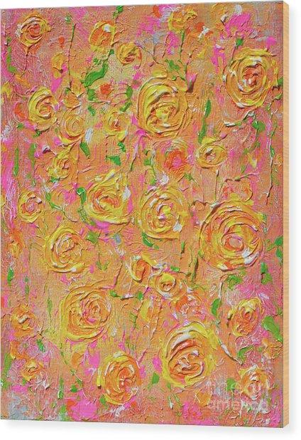 Yellow Roses Of Texas Wood Print