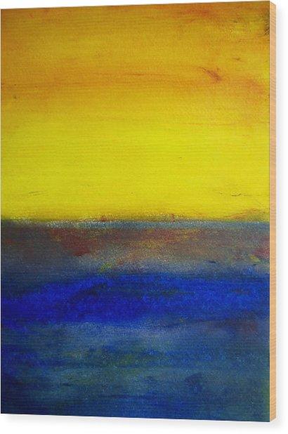 Yellow Sky 1 Wood Print