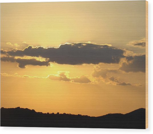 Yellow Sky Two Wood Print by Ana Villaronga