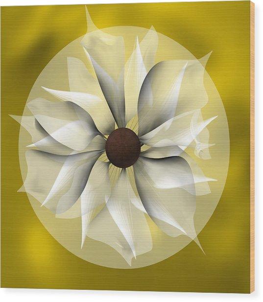 Yellow Soft Flower Wood Print
