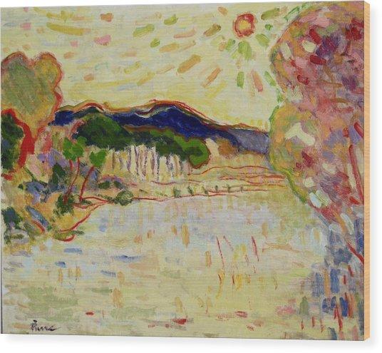 Beynac Et Cazenac , Dordogne , Yellow Sunshine  Wood Print