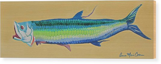 Yellow Tarpon Wood Print