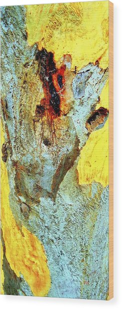 Yellow Tree - And  Ant  Australia Wood Print