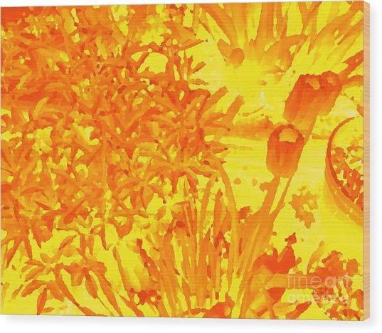 Yellow Tulips  Wood Print by John  Bichler
