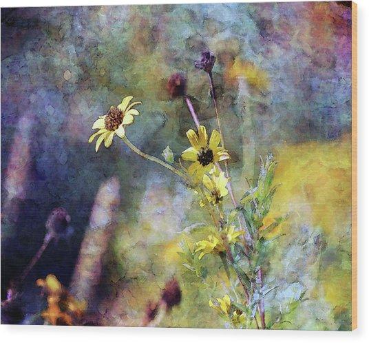 Yellow Wildflowers 3230 Idp_2 Wood Print