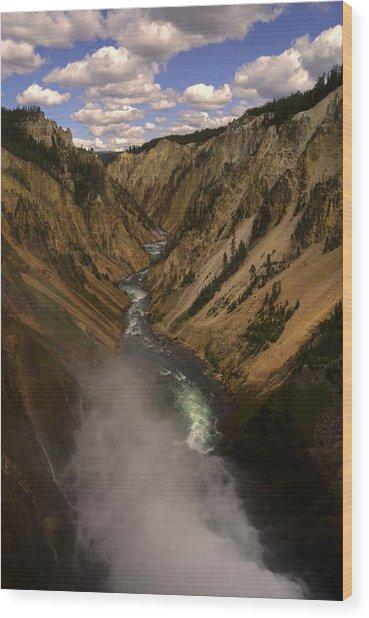 Yellowstone Grand Canyon Wood Print by Patrick  Flynn