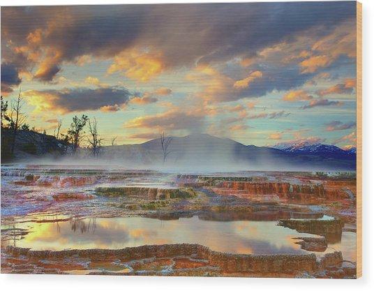 Yellowstone National Park-mammoth Hot Springs Wood Print