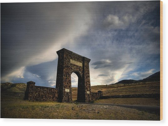 Yellowstone North Gate Wood Print by Patrick  Flynn