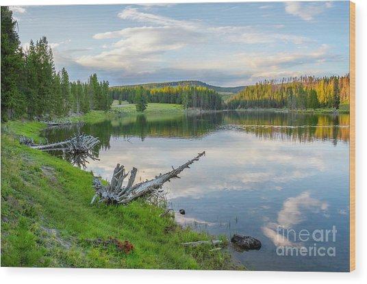 Yellowstone River Off Grand Loop Wood Print