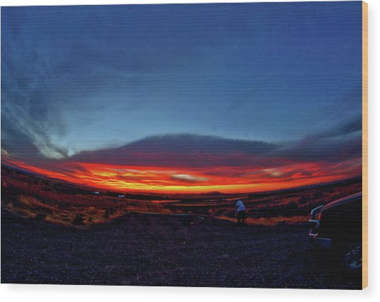 Yellowstone Sunset Wood Print
