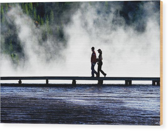 Yellowstone Walkers Wood Print