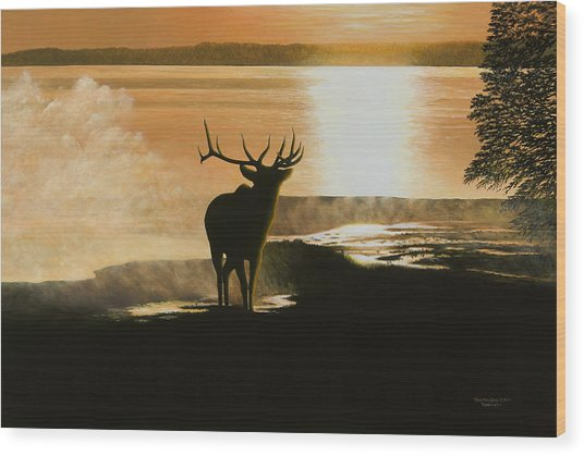 Yellowstone's Monarch Wood Print
